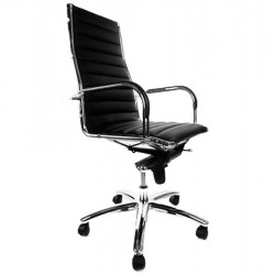 Adjustable BLACK office armchair TORINO