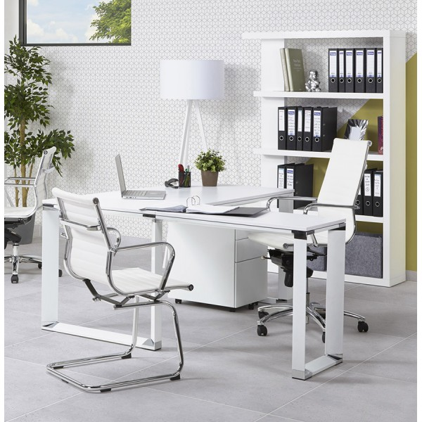 chaise de bureau design yotta blanc vistadeco. Black Bedroom Furniture Sets. Home Design Ideas