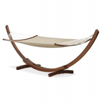 Wooden Hammock with cotton Cords SLAPPE