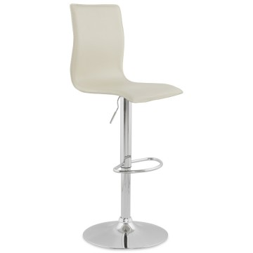 Adjustable CREAM bar stool SOHO