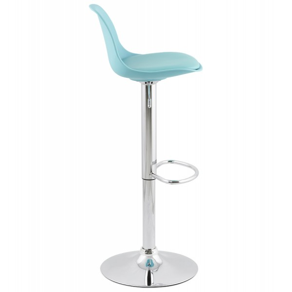 ... Blue bar stool with trendy design adjustable in imitation leather SUKI ...  sc 1 st  Vistadeco & Slimline and height-adjustable trendy bar stool SUKI (BLUE ... islam-shia.org