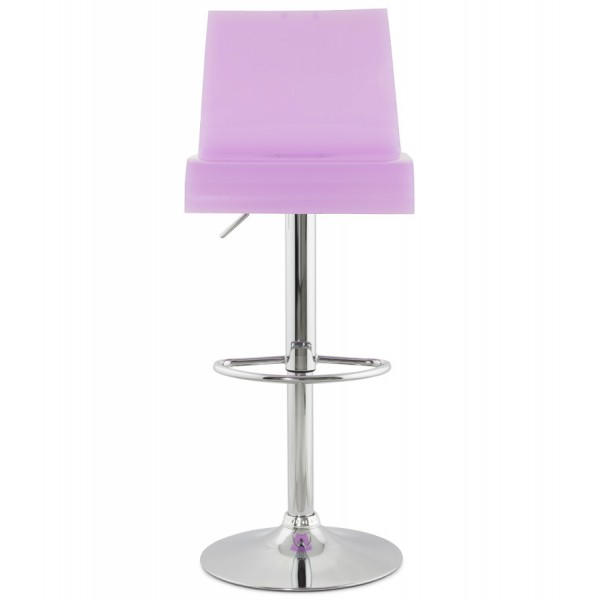 tabouret de bar pivotant et r glable plexi rose vistadeco. Black Bedroom Furniture Sets. Home Design Ideas