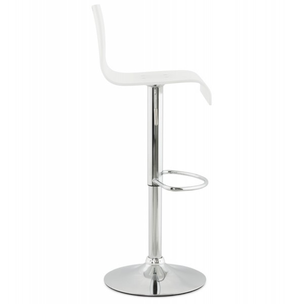 ... White Bar Stool With Footrest PLEXI ...