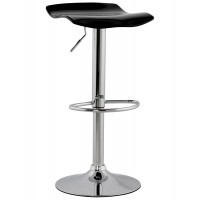 Swivel black bar stool with plexiglass seat and jack SURF
