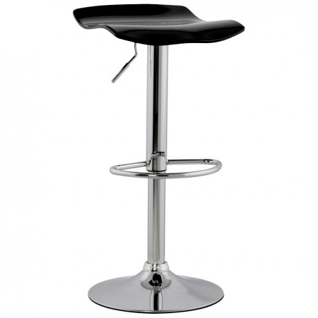 tabouret de bar simple et pratique avec v rin surf noir vistadeco. Black Bedroom Furniture Sets. Home Design Ideas