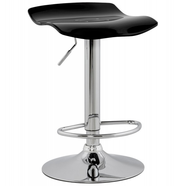 ... Swivel black bar stool with plexiglass seat and jack SURF ...  sc 1 st  Vistadeco & Simple and practical bar stool with jack cylinder SURF (BLACK ... islam-shia.org