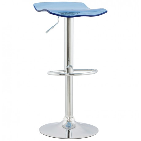 tabouret de bar simple et pratique avec v rin surf bleu vistadeco. Black Bedroom Furniture Sets. Home Design Ideas