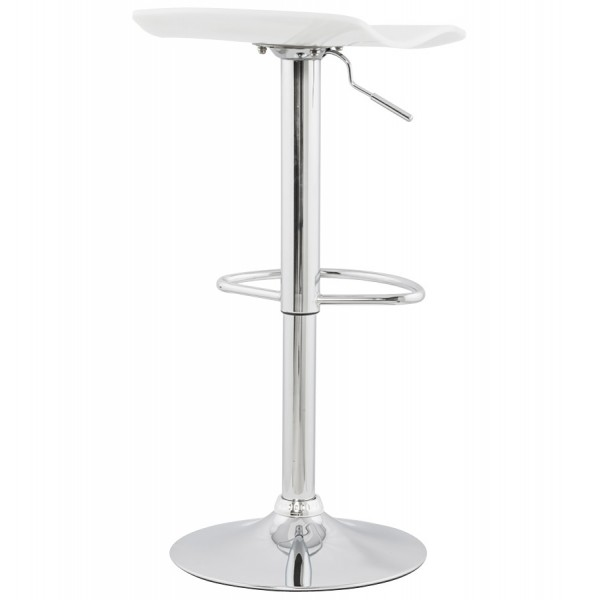tabouret de bar simple et pratique avec v rin surf blanc vistadeco. Black Bedroom Furniture Sets. Home Design Ideas