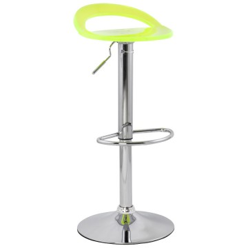 Adjustable and swivel bar stool GHOST (FLUO)