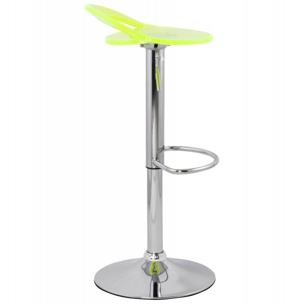 tabouret de bar r glable et pivotant ghost fluo vistadeco. Black Bedroom Furniture Sets. Home Design Ideas