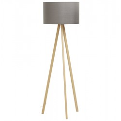 Scandinavian style GREY / NATURAL floor lamp TRIVET