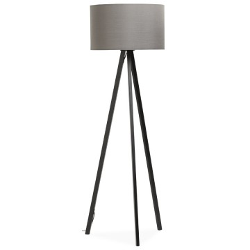 Scandinavian style GREY / BLACK floor lamp TRIVET