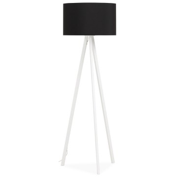 Scandinavian style BLACK / WHITE floor lamp TRIVET