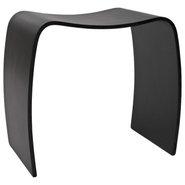 BLACK Side pouffe or low stool MITCH