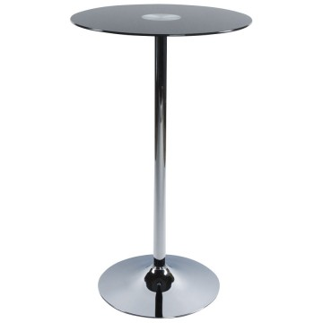 Bar table with glass tabletop STAND (BLACK)