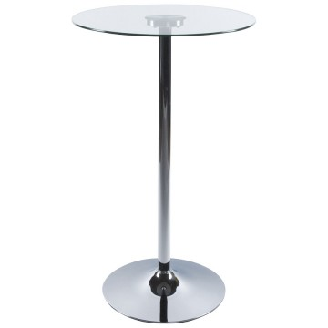 Bar table with glass tabletop STAND (CLEAR)
