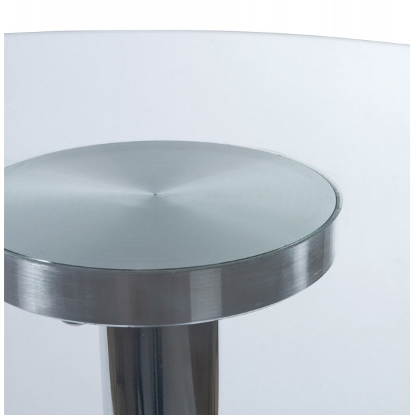 Bar Table With Glass Tabletop Stand Clear