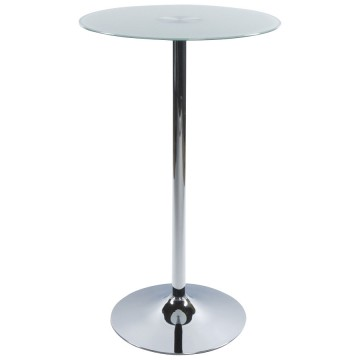 Bar table with glass tabletop STAND (WHITE)