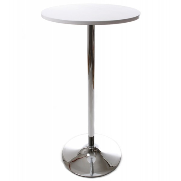 Superb ... White High Stand Or White Top Table With Wood Top And Chrome Metal  Frame LILA ...