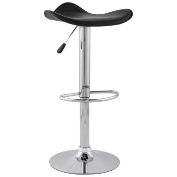 Design and adjustable BLACK bar stool TRIO
