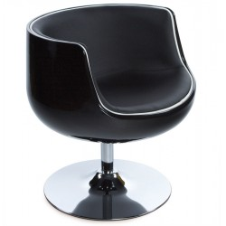 Swivel and comfortable HARLOW tulip armchair (BLACK)