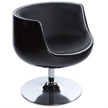 Swivel and comfortable BLACK tulip armchair HARLOW