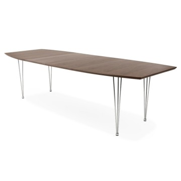 Extending WALLNUT table with contemporary design EXTENSIO