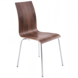 Multi-purpose WALLNUT chair with a sleek design CLASSIC
