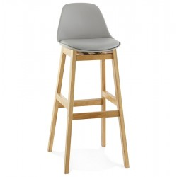 GREY Bar stool with padded seat ELODY