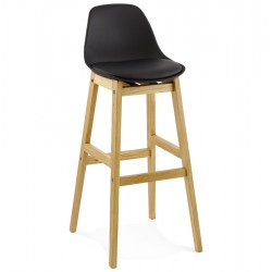 Black Bar stool with padded seat ELODY