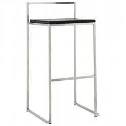 Tabouret de bar NOIR empilable grand format METO