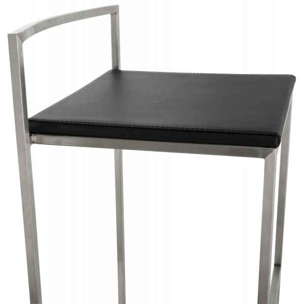 tabouret de bar empilable grand format meto noir vistadeco. Black Bedroom Furniture Sets. Home Design Ideas