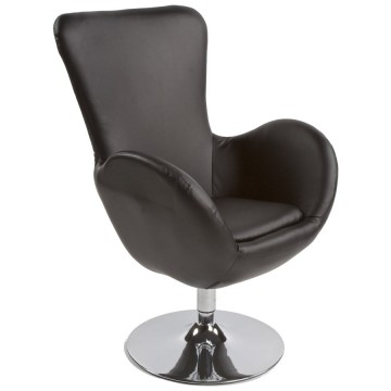 Swivel and comfortable BLACK armchair PRINCE