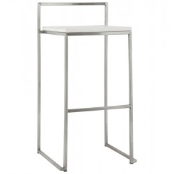 Tabouret de bar BLANC empilable grand format METO