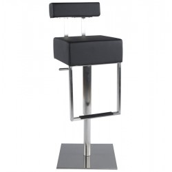 Design BLACK bar stool with strong base CUBO