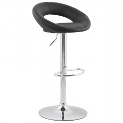 Comfortable and sturdy BLACK bar stool ATLANTIS