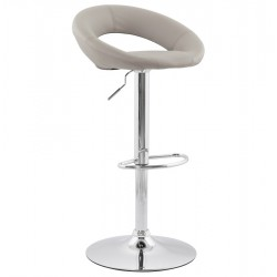 Comfortable and sturdy GREY bar stool ATLANTIS