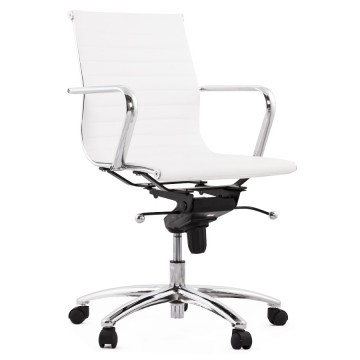 Swivel and adjustable WHITE office chair MICHELIN