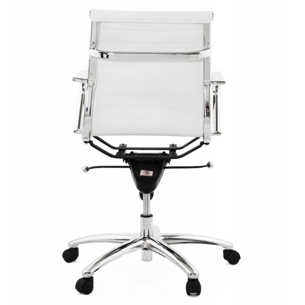 Magnificent Swivel And Adjustable White Office Chair Michelin Ibusinesslaw Wood Chair Design Ideas Ibusinesslaworg