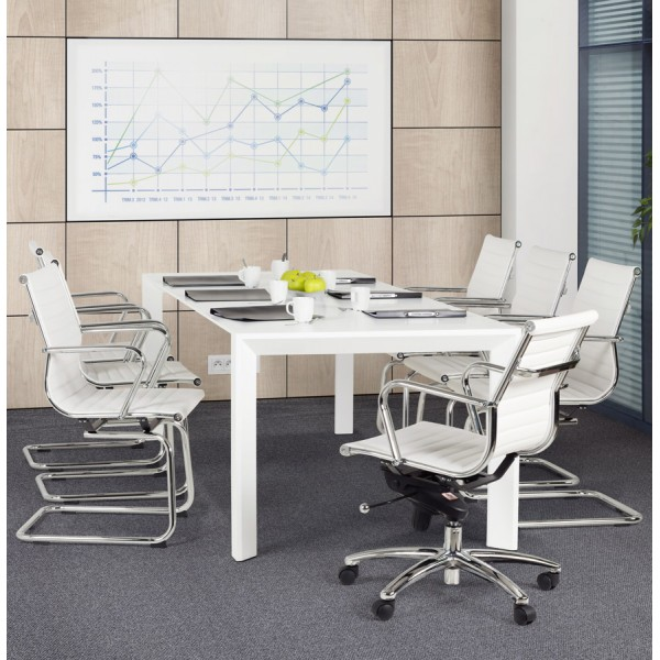 Pleasant Swivel And Adjustable White Office Chair Michelin Ibusinesslaw Wood Chair Design Ideas Ibusinesslaworg