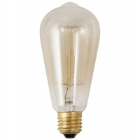 Vintage filament bulb with screw socket, conical BULBO