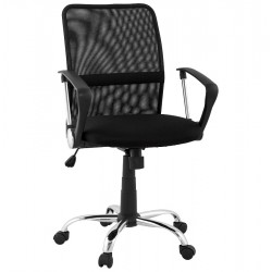 Simple and comfortable BLACK office armchair HARVARD