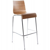 Zebra stackable wooden stool (large format) with metal frame COBE