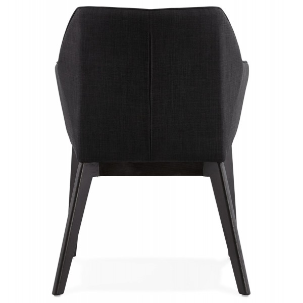 Comfortable Black Design Chair With Armrests Takion
