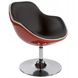 Contemporary RED and BLACK lounge armchair DAYTONA