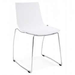 Chaise BLANCHE design et empilable TIKADA