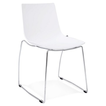 Chaise design et empilable TIKADA (BLANC)