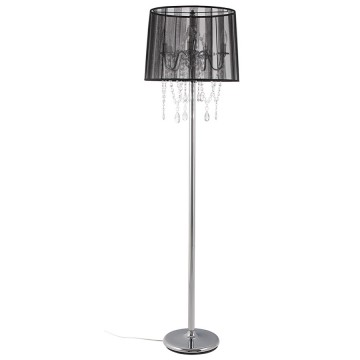 Candlestick style BLACK floor lamp LOUNGE