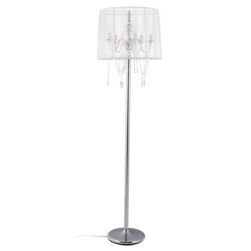 Candlestick style WHITE floor lamp LOUNGE