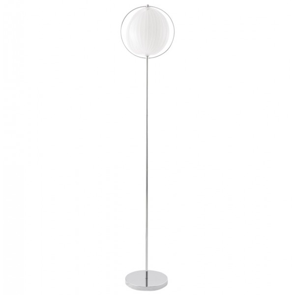 Designed and original floor lamp nina big white vistadeco white floor lamp with original shade and chromed metal base nina big aloadofball Images